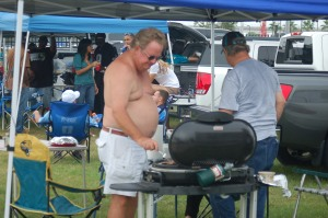 Clearly he knows how to grill something tasty