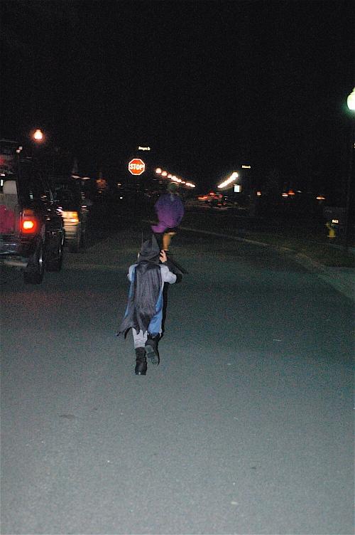 Batman gives chase