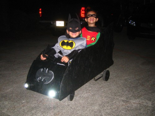 Batman, Robin and the Batmobile