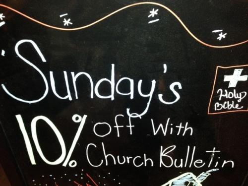 """Sunday's"""