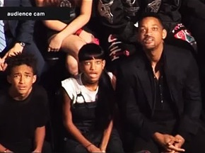 Will Smith and family react